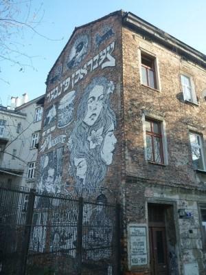 Jewish Murals in the Jewish Quarter, Krakow, Poland