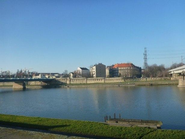 Wisla River and Jewish Krakow