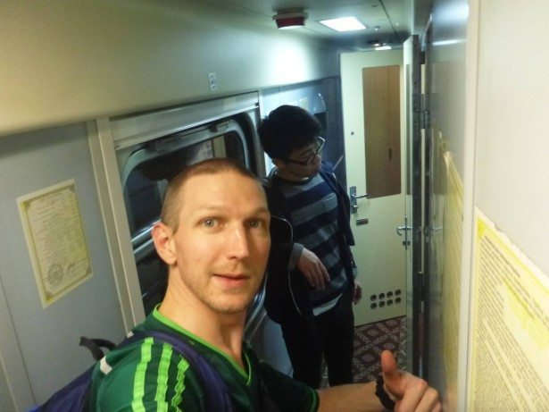 Ikuma and I on the border train