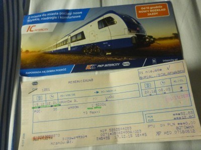 My train ticket