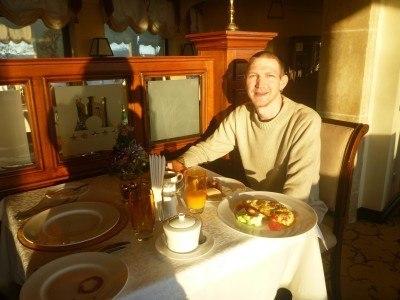 Loving my massive breakfast in the Citadel Inn
