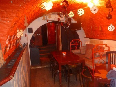 The basement of the bar
