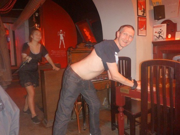 Getting Handcuffed and Spanked in the home of Masochism in Lviv, Ukraine