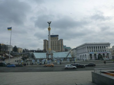 The hostel is 2 minutes walk from Maidan Square