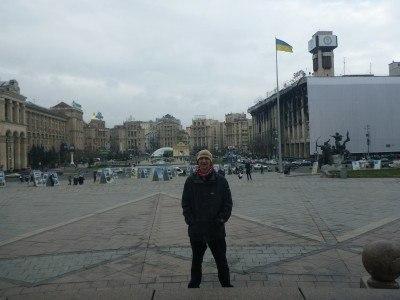 Backpacking in Ukraine: Maidan Square in Kiev