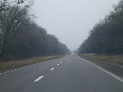 The lonely road from Kiev to the Chernobyl Exclusion Zone