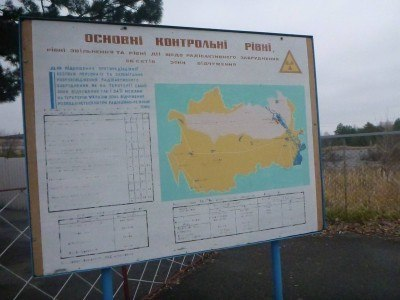 "Arrival at Dityatki Checkpoint, where ""normal Ukraine"" ends and the Chernobyl Exclusion Zone begins."