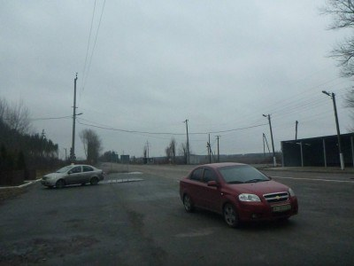 "Looking back at ""Normal Ukraine"" from the Dityatki Checkpoint entry to the CEZ"