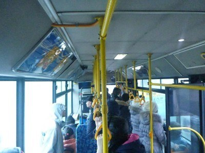 On the local buses in Almaty, Kazakhstan