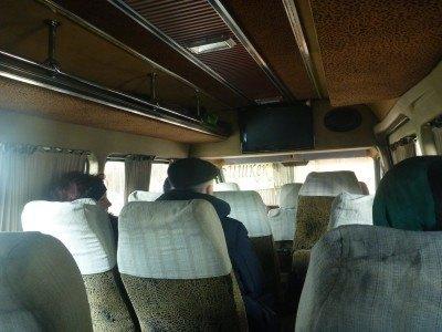 Inside the Marshrutka bound for Kyrgyzstan