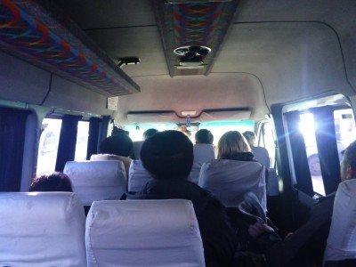 Marshrutky to Bishkek from the border.