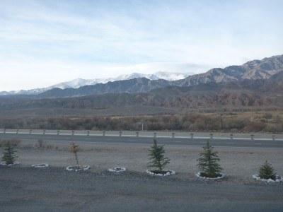 Tremendous mountain views on route to Cholpon Ata