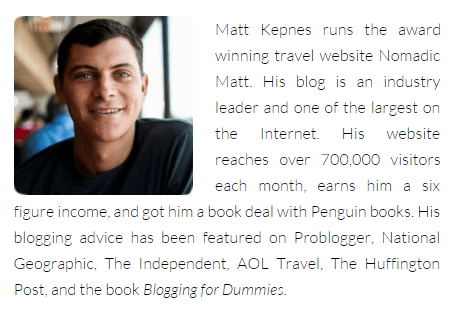 Superstar Blogging - Nomadic Matt