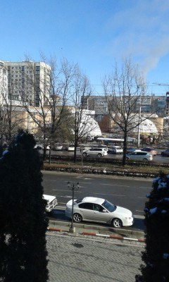 View from my room over Ibraimov Street