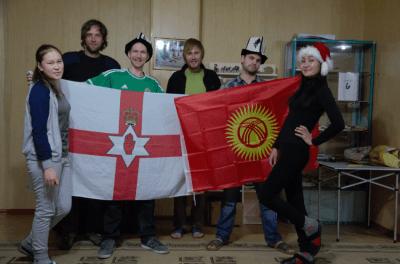 Apple Hostel Bishkek party