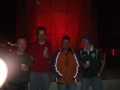 Drinking in Trieste with the lads in 2008