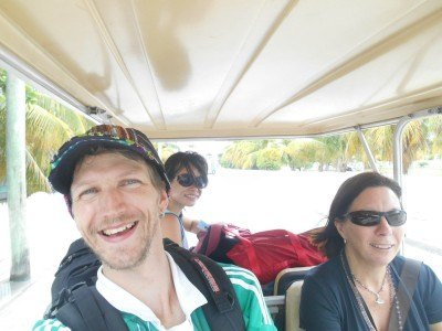 On a golf cart on La Isla Bonita