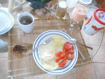 Breakfast in San Pedro, La Isla Bonita, Belize