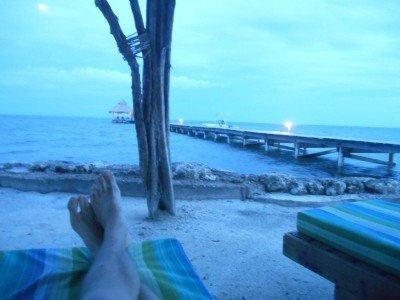 Relaxing in San Pedro, Belize, 2014