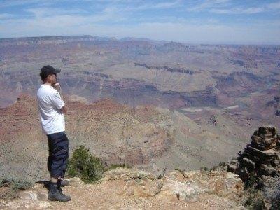 Pol at the Grand Canyon, USA