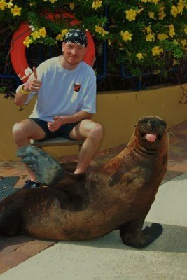 Pol In Curacao with a Sealion