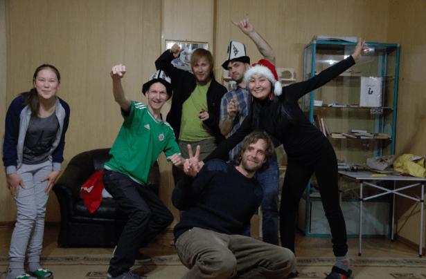 Happy times at Apple Hostel in Bishkek