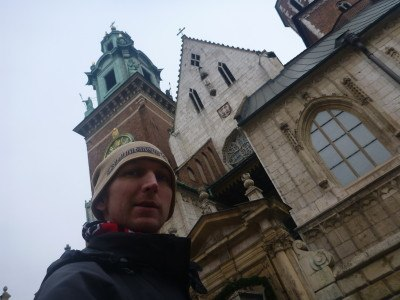 Touring Krakow after the time in Auschwitz.