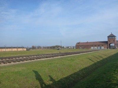 Train lines at Auschwitz II