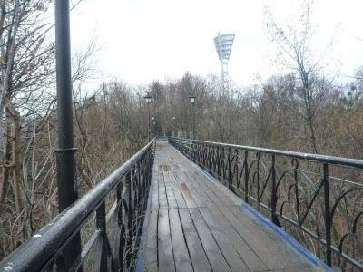 Lover's Bridge in Kiev by day