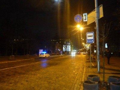 Nightfall on Instytutska Street - avenue of the revolution 2014