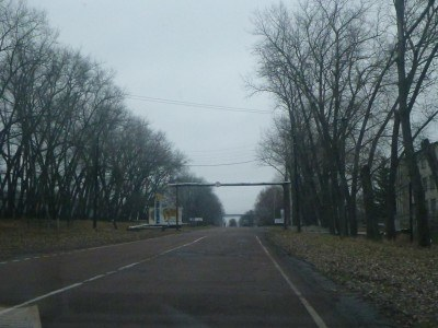 Driving to the actual town of Chernobyl