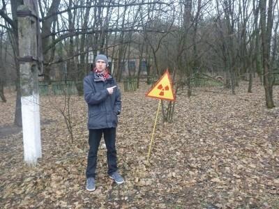 Radiation warning signs in Kopachi
