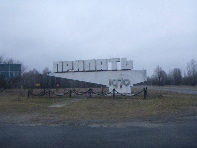 Pripyat City sign