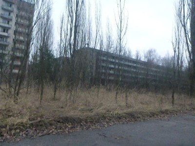 Driving into Pripyat