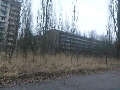 Driving into Pripyat