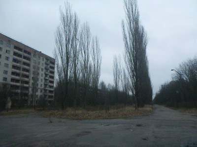 The main street through Pripyat
