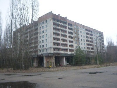 Downtown Pripyat - city centre