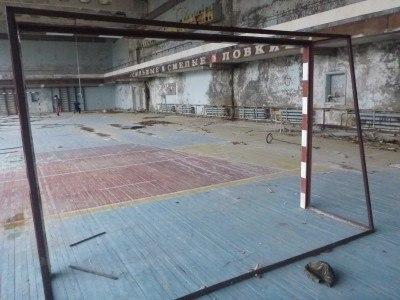 Playing football in Pripyat