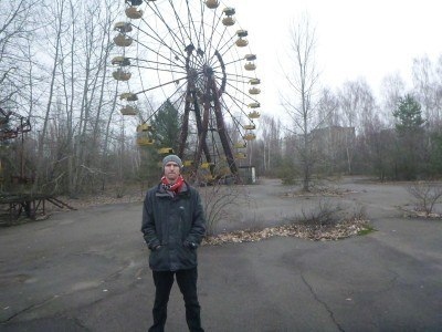 Sightseeing in an abandoned amusement park