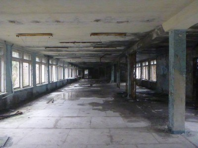 Assembly hall, Middle School Number 3, Pripyat, Chernobyl Exclusion Zone, Ukraine