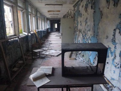 Middle School number 3, Pripyat, Ukraine, Chernobyl Exclusion Zone