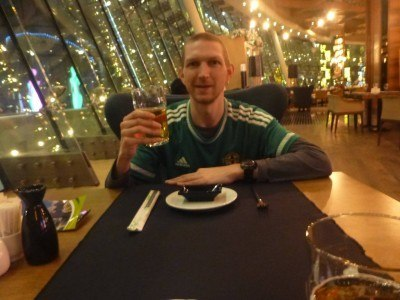 Living it up in Cafe Central, Almaty