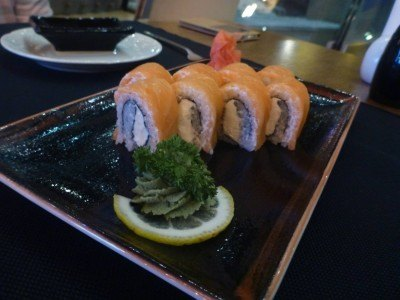 Beer and sushi in Cafe Central