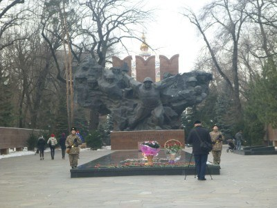 The memorial to the fallen heroes of Kazakhstan and an emotional music rendition
