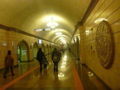 Metro station in Almaty, Kazakhstan