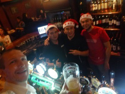A party on Christmas Night in the Shakespeare Pub, Almaty
