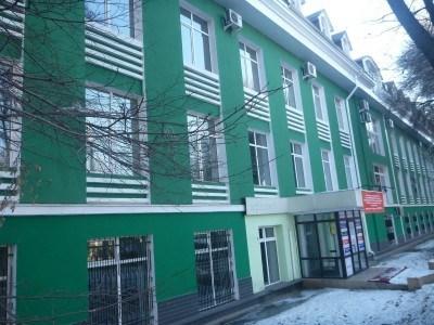 A green building in Almaty