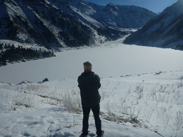 Simply in awe of the mountains of Kazakhstan and Almaty Lake below