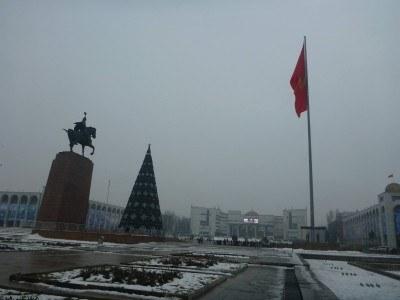 Downtown Bishkek, the Kyrgyzstani capital