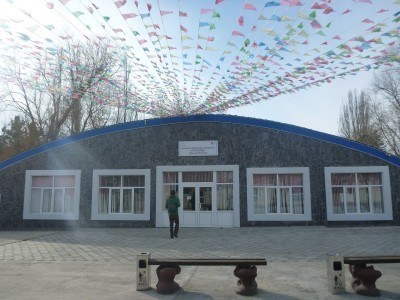 At the front of Ruh Ordo, Kyrgyzstan